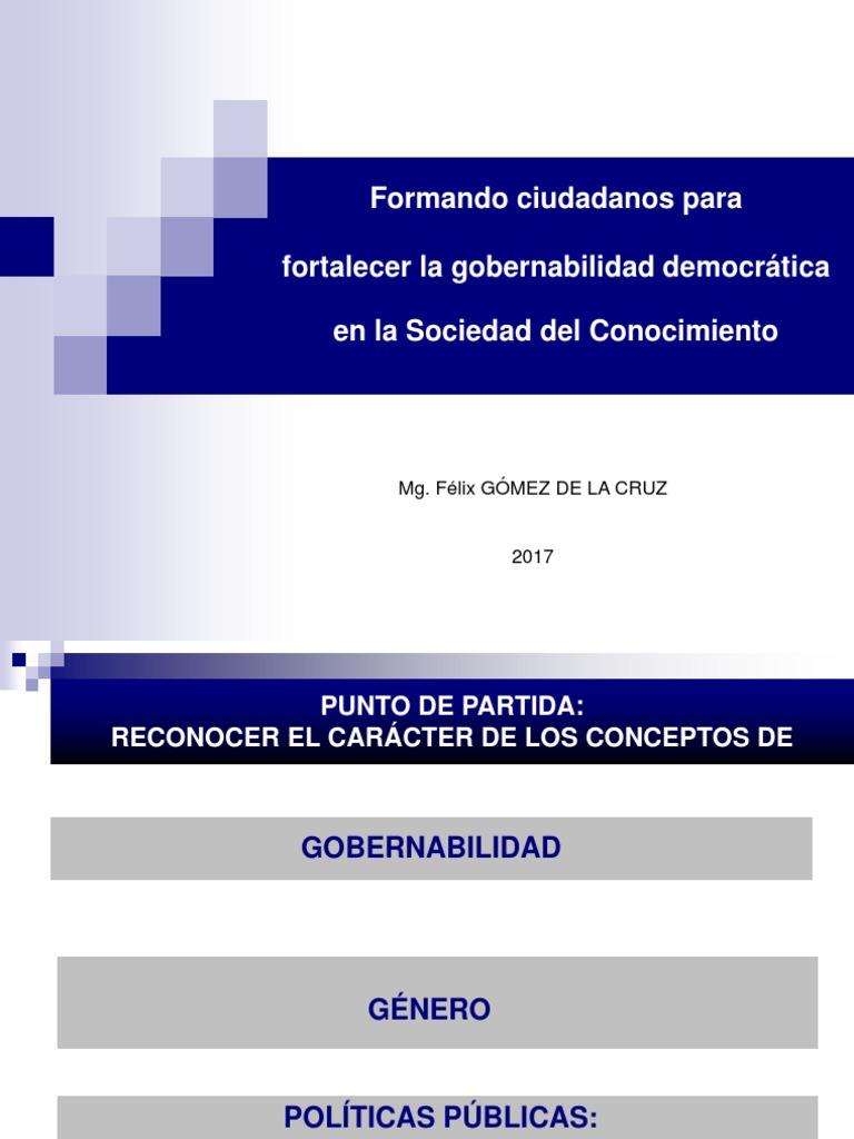DIAPOSITIVAS GOBIERNO Y GOBERNABILIDAD DEMOCRATICA 2017