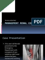 Management Renal Colic Oleh Dr. Donnie