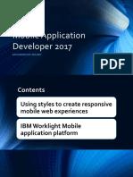 Mobile Application Developer 2017(App Platform)