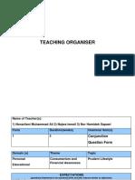 Teaching Organiser 12
