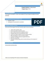 Course Development Matrix