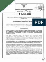 DECRETO 1177 DEL 11 DE JULIO DE 2017 MODIFICACION SEMANA RECESO ESTUDIANTIL.pdf