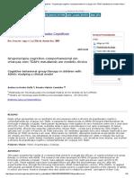 Grupoterapia Cognitivo-comportamental Em Crianças Com TDAH_ Estudando Um Modelo Clínico (Bellé, Maiato, 2005)