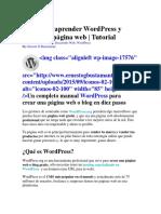 Guía Para Aprender WordPress y Crear Una Página Web