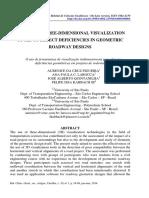 Uso de Ferramentas Tridimensionais Na Detecção de Deficiencias de Projetos Geometricos
