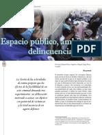 Espacio Publico, Ambiente y Delincuencia