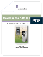 Mounting the ATM to the Floor280FL