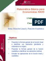 Clase 11.2 MBE Funcion Lineal y Cuadratica