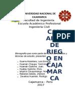 Monografía Canales de Riego