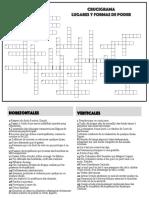Crucigrama Formas y Lugares de Poder