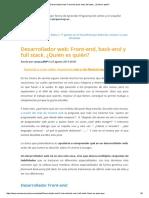 Desarrollador Web_ Front-End, Back-End y Full Stack
