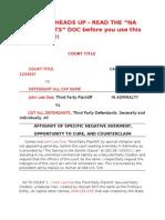 Court Negative Averment Format Criminal Case John Doe 2-14-10
