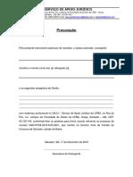 Processo Civil. Modelo de Procuração (1)