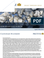 Pretivm European Gold Forum APR 2016