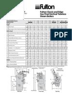 Dimensiones Calderas Fulton Ics- Vapor
