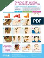 Howard Leight Earplug Instruction Poster - ES-1