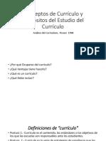 Conceptos de Currículo y Propósitos Del Estudio Del