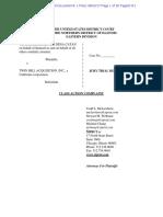 File Stamped Complaint Zurbriggen & Catan v Twin Hill