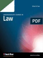 University of Leicester Law Undergraduate Brochure