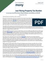 2017 08 02 Testimony Eliminating Rising Property Tax Burden HB285 CFP VanceGinn