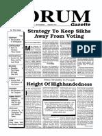The Forum Gazette Vol. 4 No. 18 October 1-15, 1989