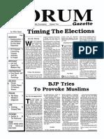 The Forum Gazette Vol. 4 No. 20 November 1-15, 1989