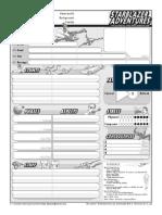 Starblazer  Adventures - Character Sheet Interactive