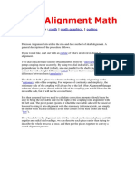 181019404 Shaft Alignment Math Docx