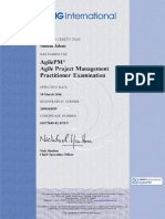 AgilePM Certificate