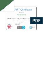 scumaci colour smart notebook certificate
