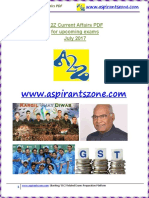 A2Z July 2017 Current Affairs PDF