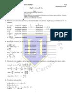 8° Básico - Guía de Álgebra