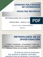 Metodología de La Investigación Parcial II
