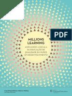 PROTAGON Educação -Millions Learning, Ampliando a Escala Da Educação de Qualidade Em Países Em Desenvolvimento