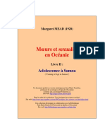 Margaret Mead Moeurs Et Sexualité en Oceanie
