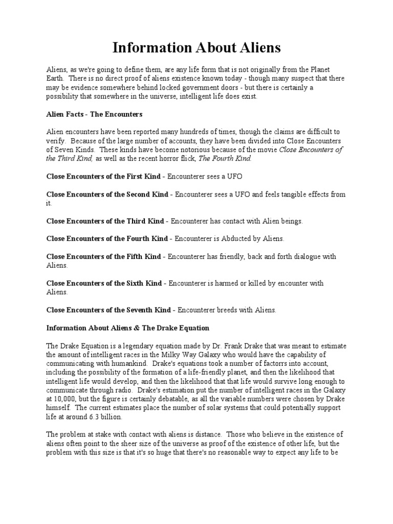 worksheet Alien Encounters Worksheet alien and early man extraterrestrial life human evolution