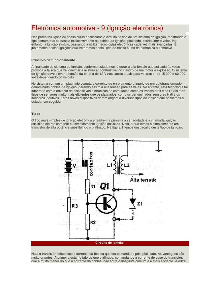 Circuito Eletronica : Eletrônica automotiva.docx
