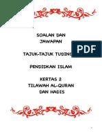 Tilawah Dan Hadis Tudingan 2016