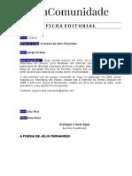 Cultura - Jorge Vicente - A Poesia de Júlio Fernandes