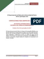 Convocatoria VII Festival Internacional de Música de Cámara de Barranquilla