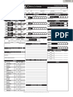 Dungeons & Dragons 4th Edrrrition Character Sheet