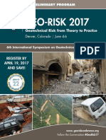 Geo Risk 2017 Preliminary Program