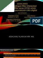Sidang Skripsi_Perbandingan Filter Interpolasi Color Filter Array (CFA)