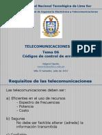T. III - TEMA 06 - Códigos de Control de Errores