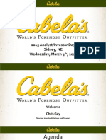 CAB Cabelas 2015 Analyst investor Day Final Print