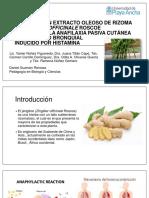 Efecto de Un Extracto Oleoso de Rizoma De