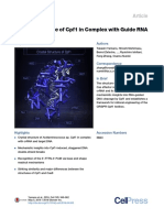 Crystal Structure of Cpf1 in Complex With Guide RNA and Target DNA