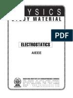 AIEEE Class XII 01 Phy Electrostatics