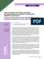 Tesis en Formato de Artículo Científico
