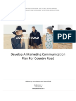 country road marketing communication plan 2014